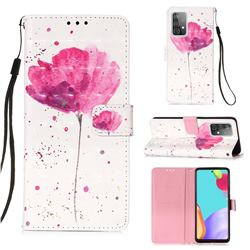 Watercolor 3D Painted Leather Wallet Case for Samsung Galaxy A52 (4G, 5G)