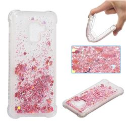 Dynamic Liquid Glitter Sand Quicksand Star TPU Case for Samsung Galaxy A8 2018 A530 - Diamond Rose