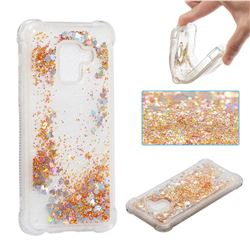 Dynamic Liquid Glitter Sand Quicksand Star TPU Case for Samsung Galaxy A8 2018 A530 - Diamond Gold