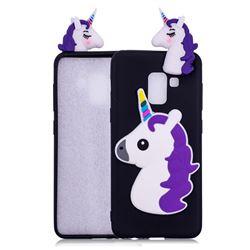 Unicorn Soft 3D Silicone Case for Samsung Galaxy A8 2018 A530 - Black