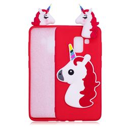 Unicorn Soft 3D Silicone Case for Samsung Galaxy A8 2018 A530 - Red
