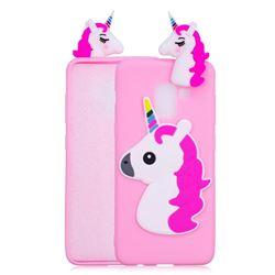 Unicorn Soft 3D Silicone Case for Samsung Galaxy A8 2018 A530 - Rose