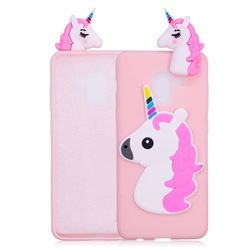 Unicorn Soft 3D Silicone Case for Samsung Galaxy A8 2018 A530 - Pink