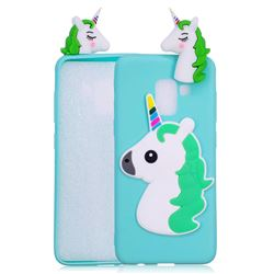 Unicorn Soft 3D Silicone Case for Samsung Galaxy A8 2018 A530 - Baby Blue
