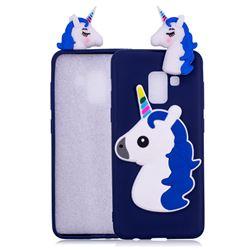 Unicorn Soft 3D Silicone Case for Samsung Galaxy A8 2018 A530 - Dark Blue