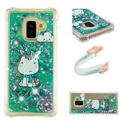 Tiny Unicorn Dynamic Liquid Glitter Sand Quicksand Star TPU Case for Samsung Galaxy A8 2018 A530