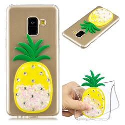 White Pineapple Liquid Quicksand Soft 3D Cartoon Case for Samsung Galaxy A8 2018 A530