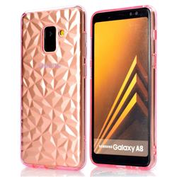 Diamond Pattern Shining Soft TPU Phone Back Cover for Samsung Galaxy A8 2018 A530 - Pink