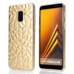 Diamond Pattern Shining Soft TPU Phone Back Cover for Samsung Galaxy A8 2018 A530 - Transparent