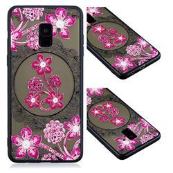 Daffodil Lace Diamond Flower Soft TPU Back Cover for Samsung Galaxy A8 2018 A530