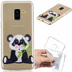 Bamboo Panda Clear Varnish Soft Phone Back Cover for Samsung Galaxy A8 2018 A530