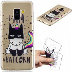 Batman Clear Varnish Soft Phone Back Cover for Samsung Galaxy A8 2018 A530