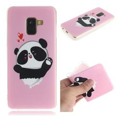 Heart Cat IMD Soft TPU Cell Phone Back Cover for Samsung Galaxy A8 2018 A530