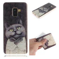 Cat Embrace IMD Soft TPU Cell Phone Back Cover for Samsung Galaxy A8 2018 A530