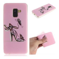 Butterfly High Heels IMD Soft TPU Cell Phone Back Cover for Samsung Galaxy A8 2018 A530