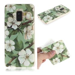 Watercolor Flower IMD Soft TPU Cell Phone Back Cover for Samsung Galaxy A8 2018 A530