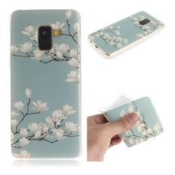 Magnolia Flower IMD Soft TPU Cell Phone Back Cover for Samsung Galaxy A8 2018 A530