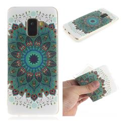 Peacock Mandala IMD Soft TPU Cell Phone Back Cover for Samsung Galaxy A8 2018 A530