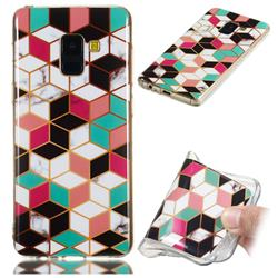 Three-dimensional Square Soft TPU Marble Pattern Phone Case for Samsung Galaxy A8 2018 A530