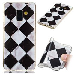 Black and White Matching Soft TPU Marble Pattern Phone Case for Samsung Galaxy A8 2018 A530
