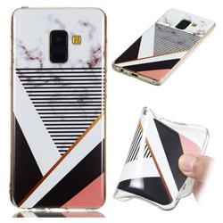 Pinstripe Soft TPU Marble Pattern Phone Case for Samsung Galaxy A8 2018 A530