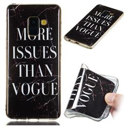 Stylish Black Soft TPU Marble Pattern Phone Case for Samsung Galaxy A8 2018 A530