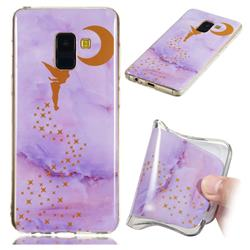 Elf Purple Soft TPU Marble Pattern Phone Case for Samsung Galaxy A8 2018 A530