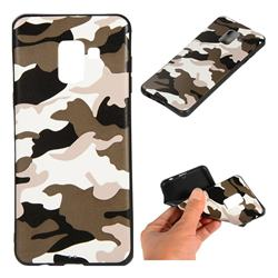 Camouflage Soft TPU Back Cover for Samsung Galaxy A8 2018 A530 - Black White