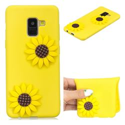 Yellow Sunflower Soft 3D Silicone Case for Samsung Galaxy A8 2018 A530