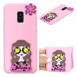 Violet Girl Soft 3D Silicone Case for Samsung Galaxy A8 2018 A530