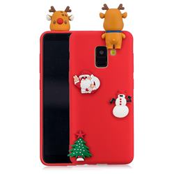 Red Elk Christmas Xmax Soft 3D Silicone Case for Samsung Galaxy A8 2018 A530
