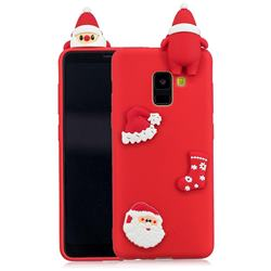 Red Santa Claus Christmas Xmax Soft 3D Silicone Case for Samsung Galaxy A8 2018 A530