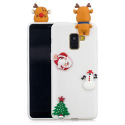 White Elk Christmas Xmax Soft 3D Silicone Case for Samsung Galaxy A8 2018 A530