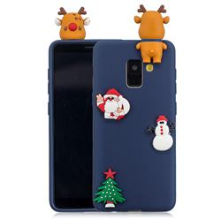 Navy Elk Christmas Xmax Soft 3D Silicone Case for Samsung Galaxy A8 2018 A530