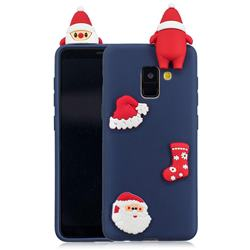 Navy Santa Claus Christmas Xmax Soft 3D Silicone Case for Samsung Galaxy A8 2018 A530
