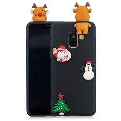 Black Elk Christmas Xmax Soft 3D Silicone Case for Samsung Galaxy A8 2018 A530
