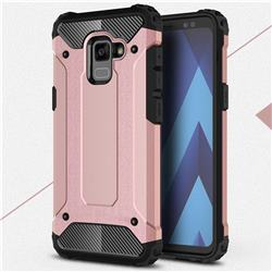 King Kong Armor Premium Shockproof Dual Layer Rugged Hard Cover for Samsung Galaxy A8 2018 A530 - Rose Gold
