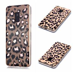 Leopard Galvanized Rose Gold Marble Phone Back Cover for Samsung Galaxy A8 2018 A530