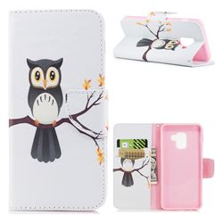 Owl on Tree Leather Wallet Case for Samsung Galaxy A8 2018 A530