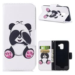 Lovely Panda Leather Wallet Case for Samsung Galaxy A8 2018 A530