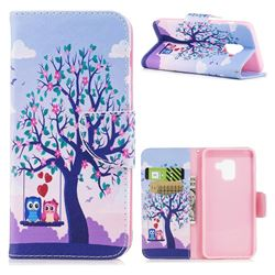 Tree and Owls Leather Wallet Case for Samsung Galaxy A8 2018 A530
