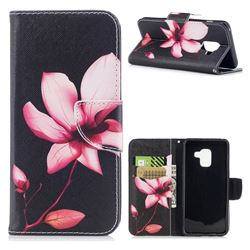 Lotus Flower Leather Wallet Case for Samsung Galaxy A8 2018 A530