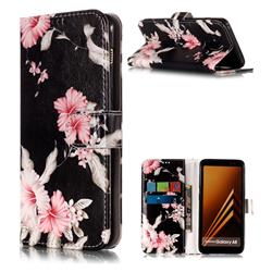 Azalea Flower PU Leather Wallet Case for Samsung Galaxy A8 2018 A530
