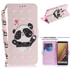 Heart Cat 3D Painted Leather Wallet Phone Case for Samsung Galaxy A8 2018 A530