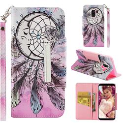 Angel Monternet Big Metal Buckle PU Leather Wallet Phone Case for Samsung Galaxy A8 2018 A530