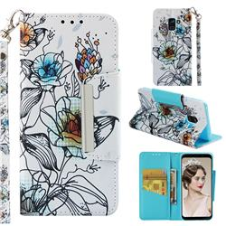 Fotus Flower Big Metal Buckle PU Leather Wallet Phone Case for Samsung Galaxy A8 2018 A530