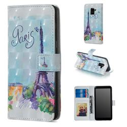 Paris Tower 3D Painted Leather Phone Wallet Case for Samsung Galaxy A8 2018 A530