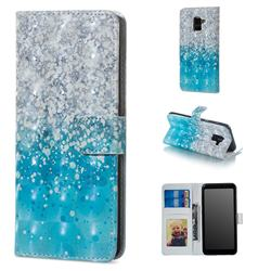 Sea Sand 3D Painted Leather Phone Wallet Case for Samsung Galaxy A8 2018 A530
