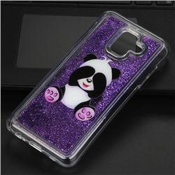 Naughty Panda Glassy Glitter Quicksand Dynamic Liquid Soft Phone Case for Samsung Galaxy A6 (2018)