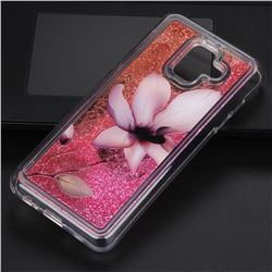 Lotus Glassy Glitter Quicksand Dynamic Liquid Soft Phone Case for Samsung Galaxy A6 (2018)